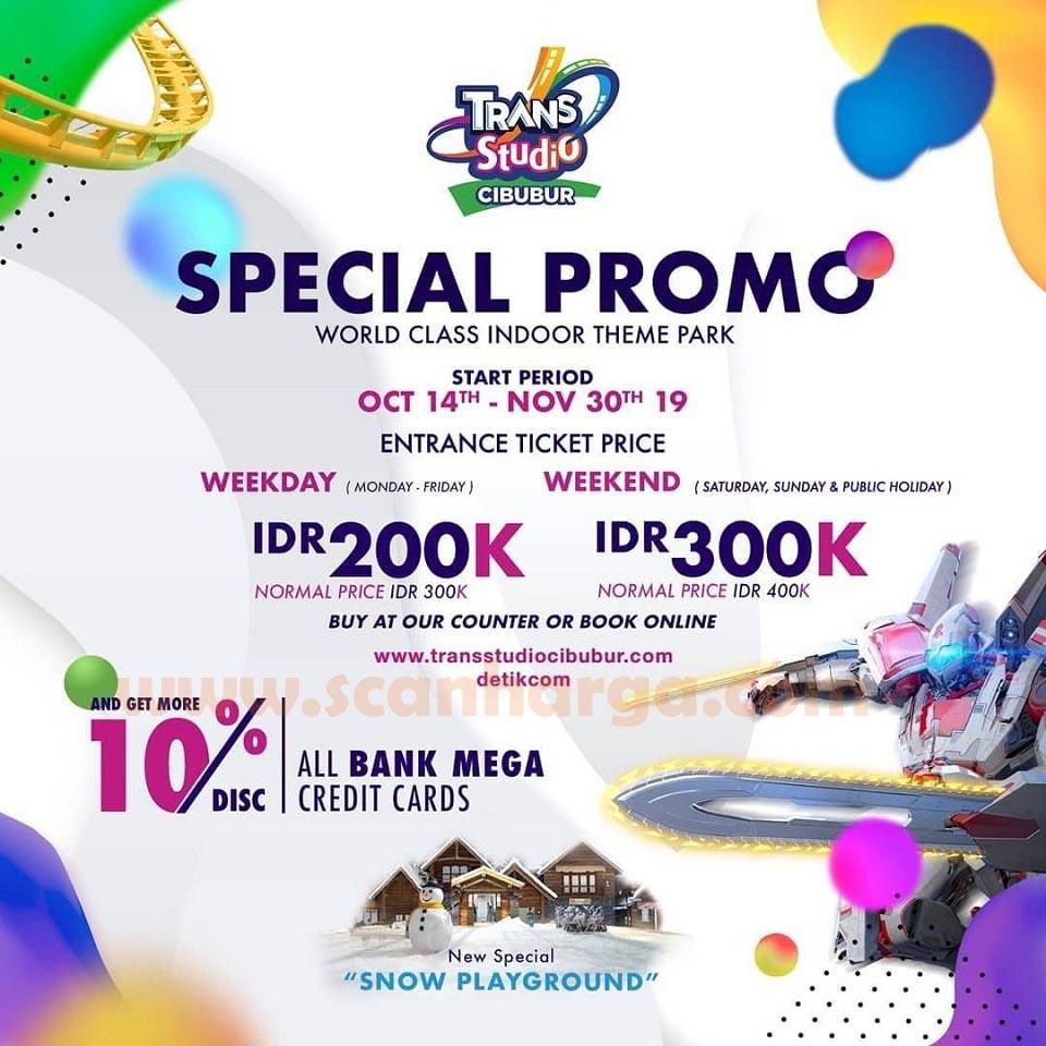 Harga tiket TRANS STUDIO Promo Spesial Terbaru oktober - november 2019