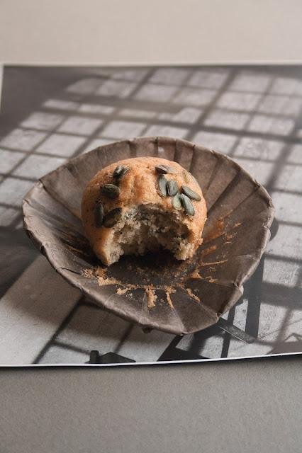 Muffin 10 cucchiai con semi di zucca e semi di papavero