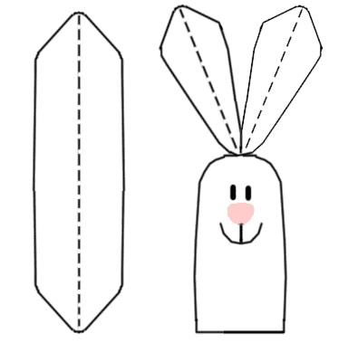 Twins' Knitting Pattern MiniShop: Hare Finger Puppets