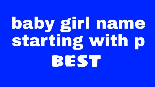 p letter names for girl hindu