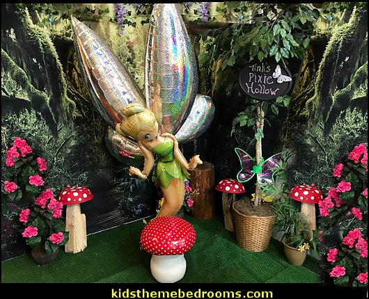 tinkerbell balloons mushroom furniture tinkerbell party decorating