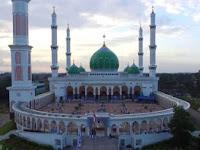 Kemegahan Masjid Agung Madani Islamic Center Rokan Hulu Riau