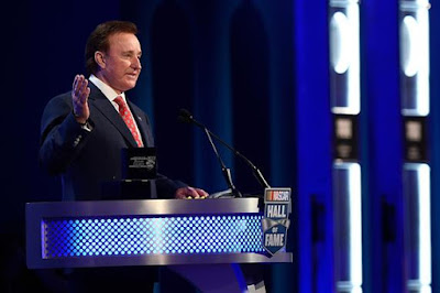 Richard Childress speaks during the NASCAR Hall of Fame Class of 2017 Induction Ceremony.  (Photo by Jared C. Tilton/Getty Images)