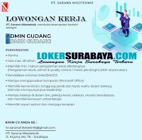 Loker Surabaya Terbaru di PT. Sarana Nikoteknik Oktober 2019