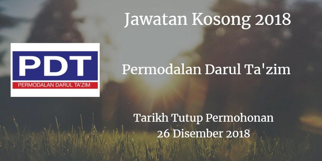 Jawatan Kosong Permodalan Darul Ta'zim 26 Disember 2018