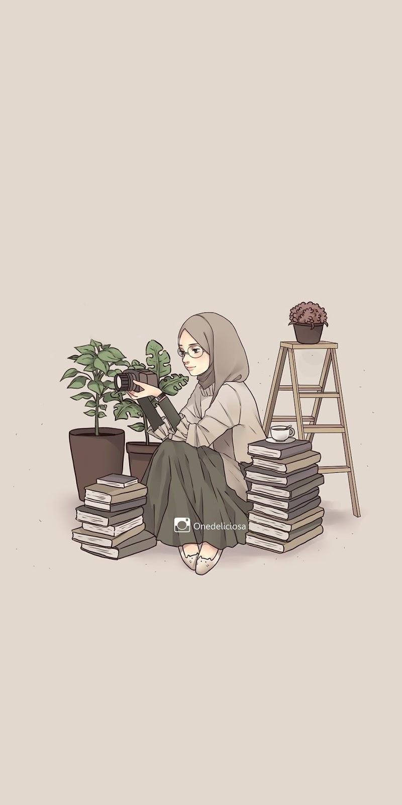 Saya juga sudah memposting artikel tentang kumpulan bio wa aesthetic yang. 100 Gambar Kartun Muslimah Keren Cantik Sedih Dewasa Dyp Im