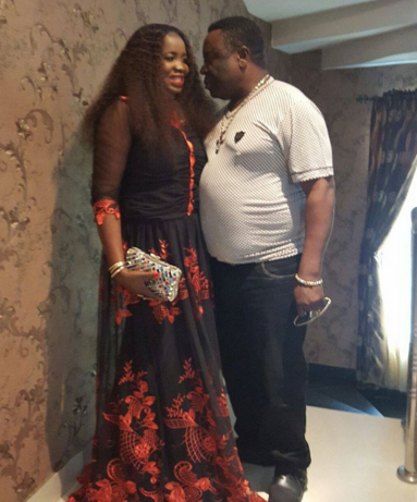 John Okafor AKA Mr Ibu pictured with his wife Stella