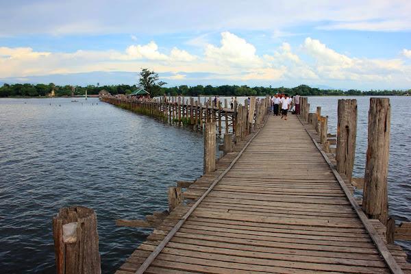 Puente de madera de teca U-Bein - Amarapura - Mandalay - Myanmar