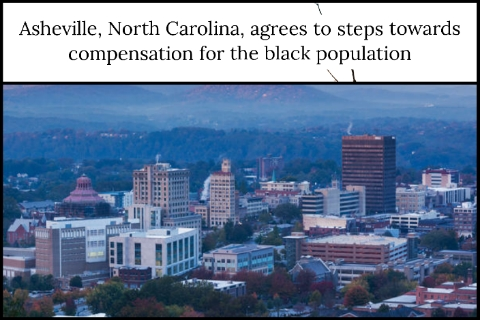 Asheville, North Carolina, agrees to steps towards compensation for the black population