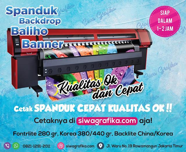 Printing Spanduk Online Murah 24 Jam di Jakarta