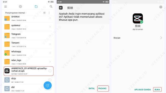 install aplikasi edit foto jadi anime dari china