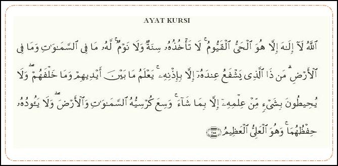 Bacaan Ayat Kursi Dalam Bahasa Arab, Latin, dan Terjemahan