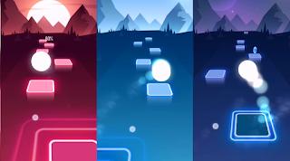 لعبة Tiles Hop على الموبايل
