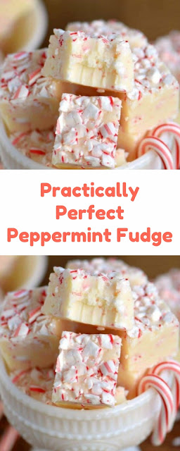 Practically Perfect Peppermint Fudge
