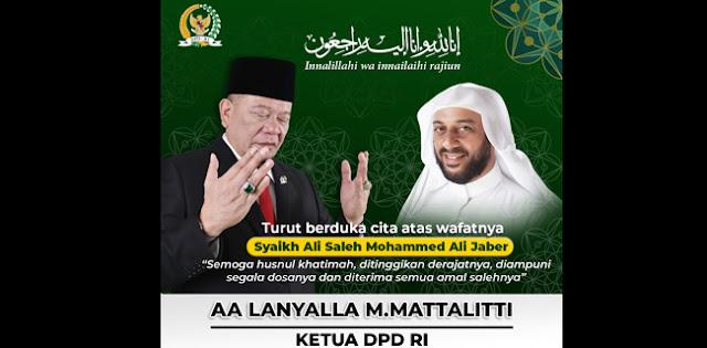Syekh Ali Jaber Tutup Usia, Ketua DPD RI: Kita Kehilangan Pendakwah Yang Luar Biasa