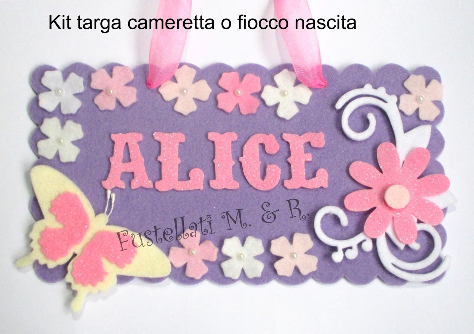 FUSTELLATI cartello rettangolare per scritte personalizzate in FELTRO  FUSTELLATI IN FELTRO E ...