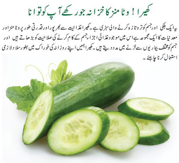 Cucumber benefits in Urdu - Kheere Ke Fawaid