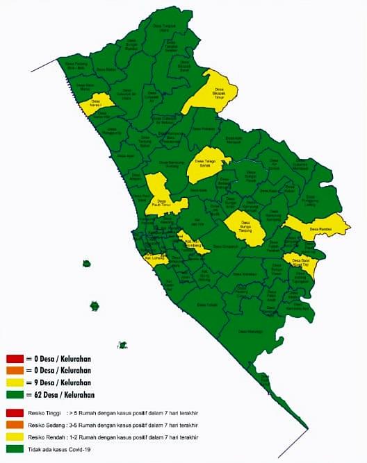 [Statistik terlampir] Kota Pariaman sudah masuki zona hijau Covid-19