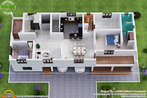 Isometric View of a House Plan