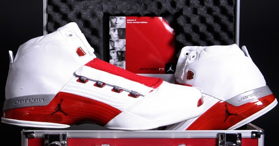 31167d9b30196a ajordanxi Your  1 Source For Sneaker Release Dates  Air Jordan XVII White Varsity  Red-Charcoal (2002)