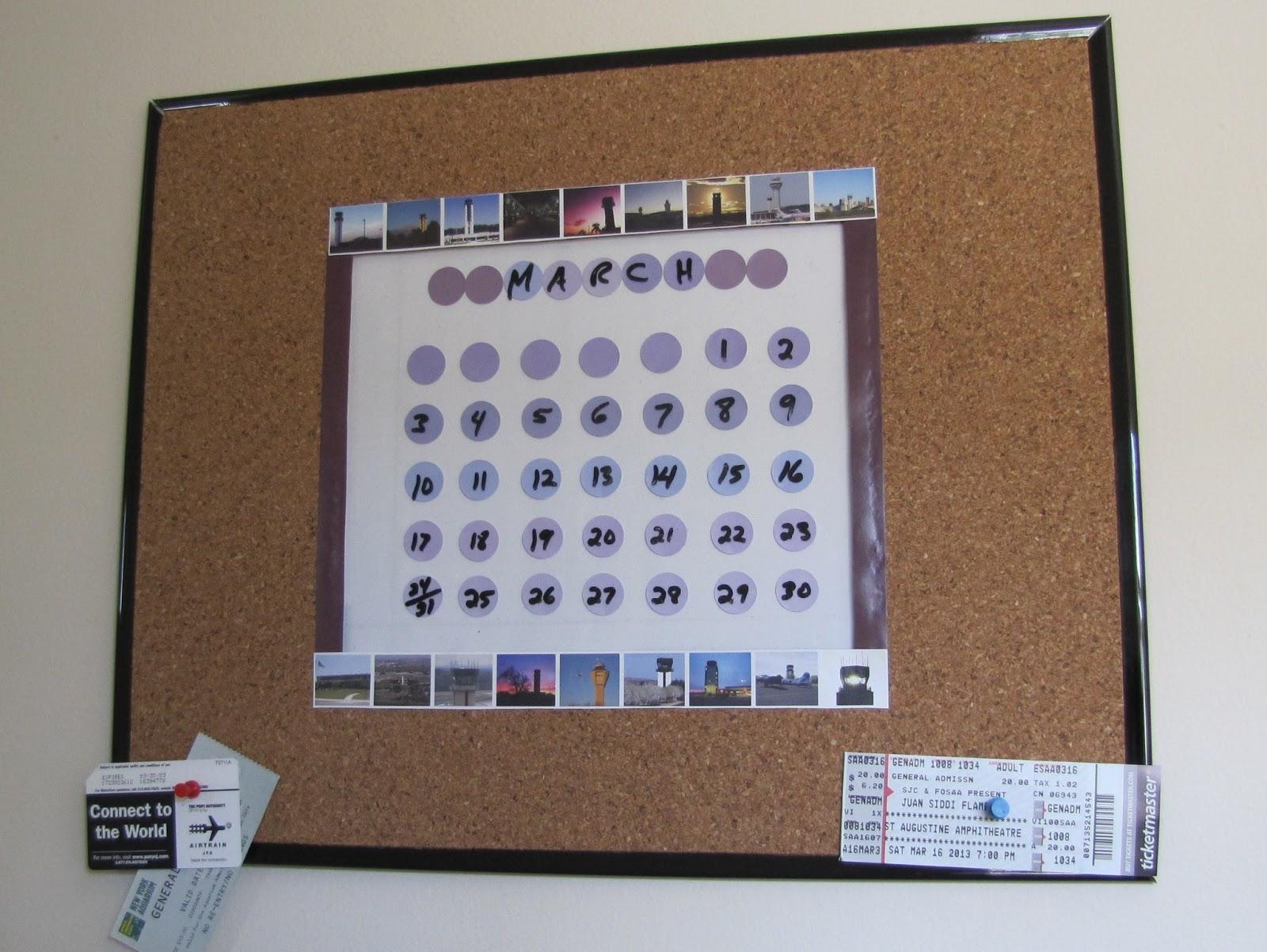 Crafts And Digital Dollars Dry Erase Calendar Cork Board