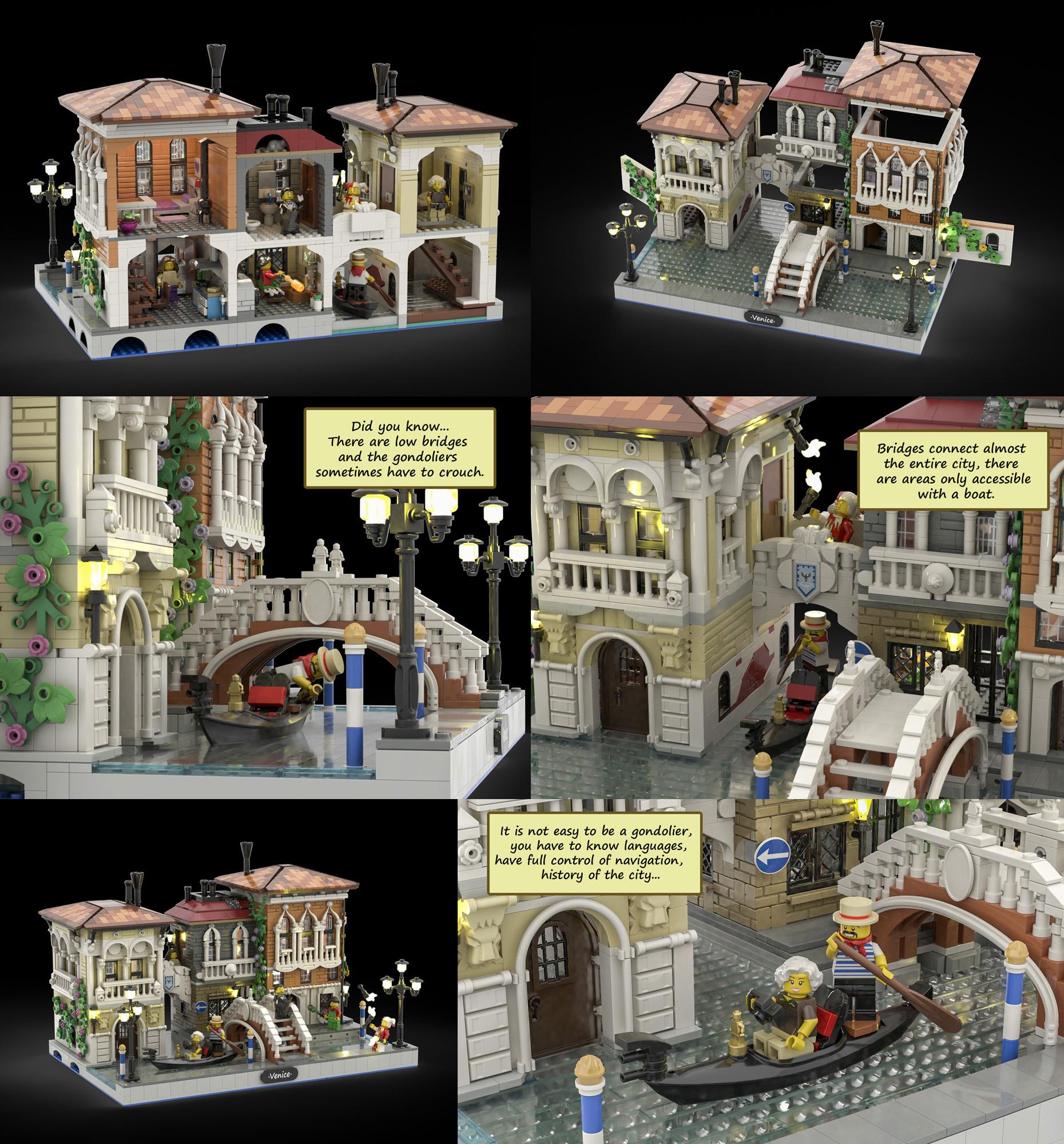 『水の都 ヴェネツィア』がレゴアイデア製品化レビュー進出!2020年第3回1万サポート獲得デザイン紹介
