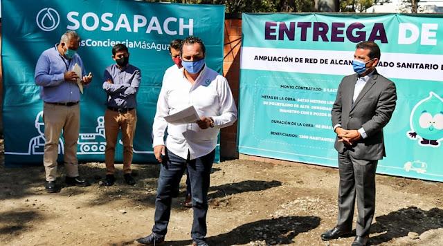 Entrega SOSAPACH red de drenaje en el Campanario