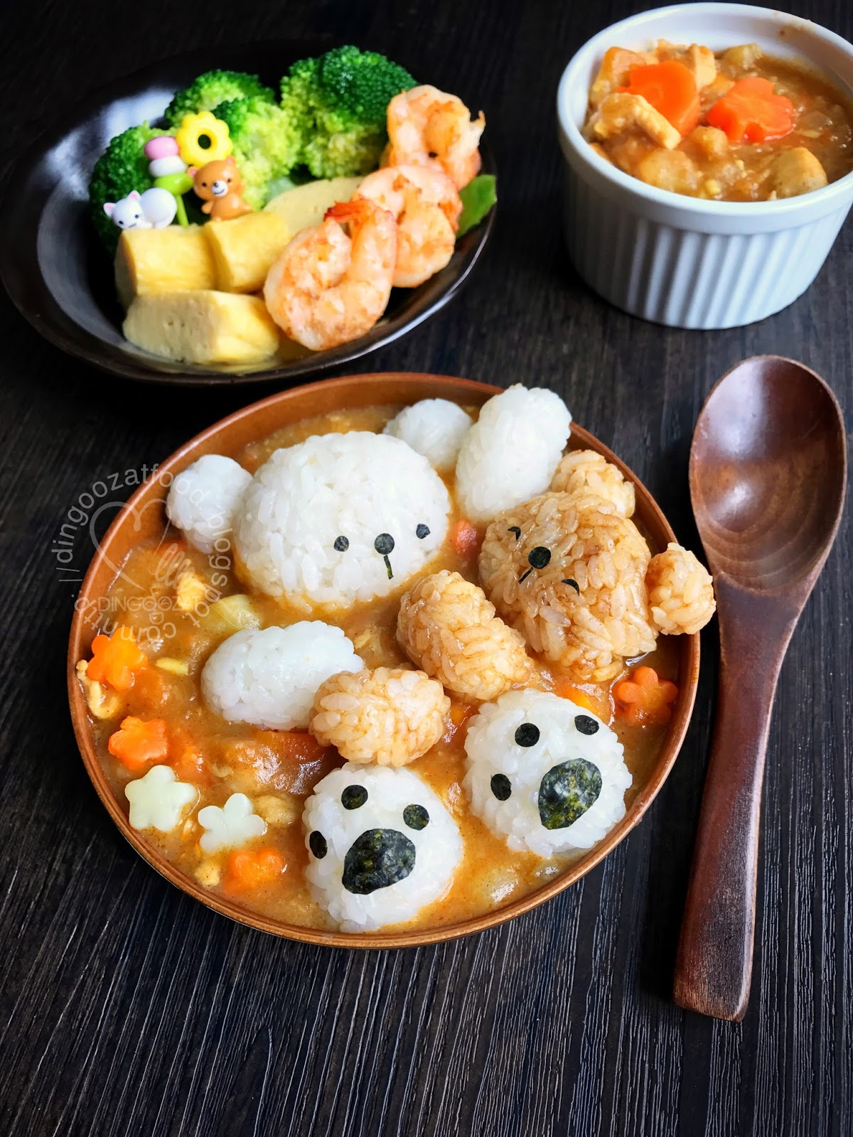 Miki's Food Archives : Cute Bear Onigiri Served In ...