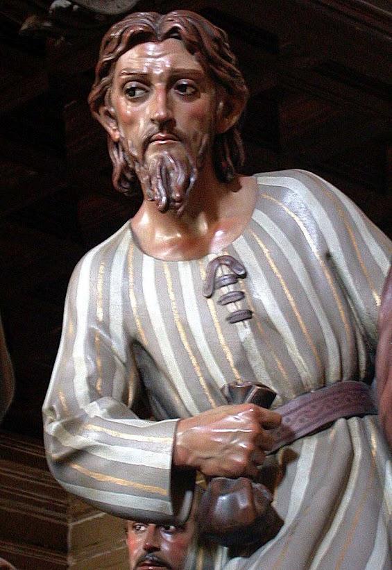 Judas e o dinheiro, Semana Santa em Úbeda, detalhe da confraría da Última Ceia.
