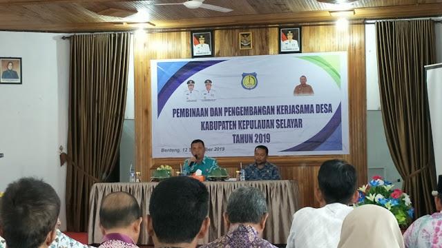 Dinas PMD Selayar Laksanakan, Pembinaan Dan Pengembangan Kerjasama Antar Desa
