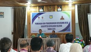 Dinas PMD Selayar Laksanakan Pembinaan Dan Pengembangan Kerjasama Antar Desa