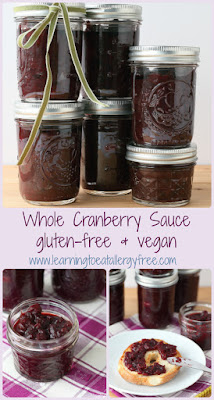 Never be without cranberry sauce again! This gluten-free, vegan, and allergy-friendly cranberry sauce is made with whole cranberries and Sucanat.