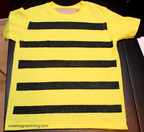 Homemade bumble bee costume for kids #creativegreenliving