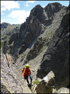 Escalando en el Pic de Ribuls, espolón Nor Oeste
