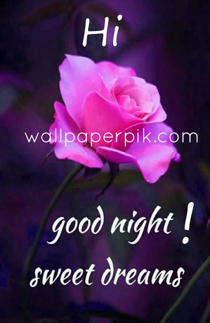 good night wallpaper rose
