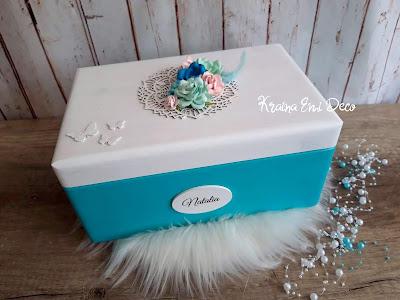 Turkusowe pudełko dla Natalii