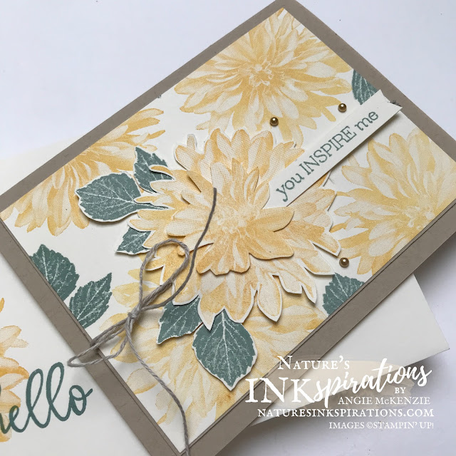 By Angie McKenzie for the Crafty Collaborations SALE-a-Bration Blog Hop; Click READ or VISIT to go to my blog for details! Featuring the lovely Delicate Dahlias Distinktive Photopolymer Stamp Set along with the Biggest Wish Photopolymer Stamp Set by Stampin' Up!; #justbecausecards #dahlias #stamping #delicatedahlias #biggestwish #linenthread #metallicpearls #fussycutting #stamparatus #20212022annualcatalog #2021SAB #naturesinkspirations #makingotherssmileonecreationatatime #cardtechniques #stampinup #stampinupink #handmadecards