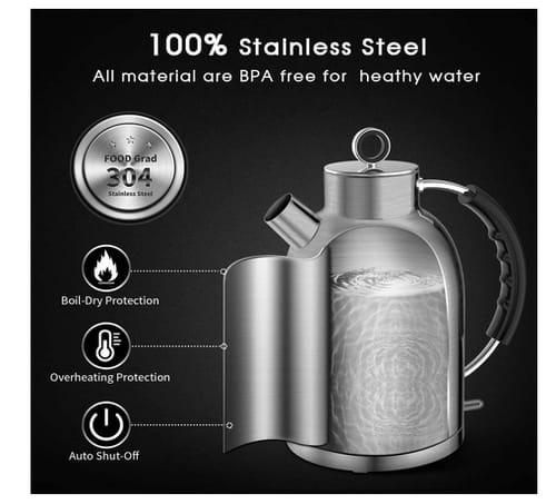 ASCOT 1.7 Liter BPA-Free Electric Tea Kettle