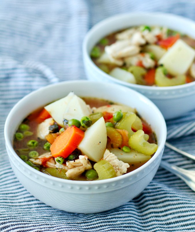 Homemade Turkey Soup with potatoes