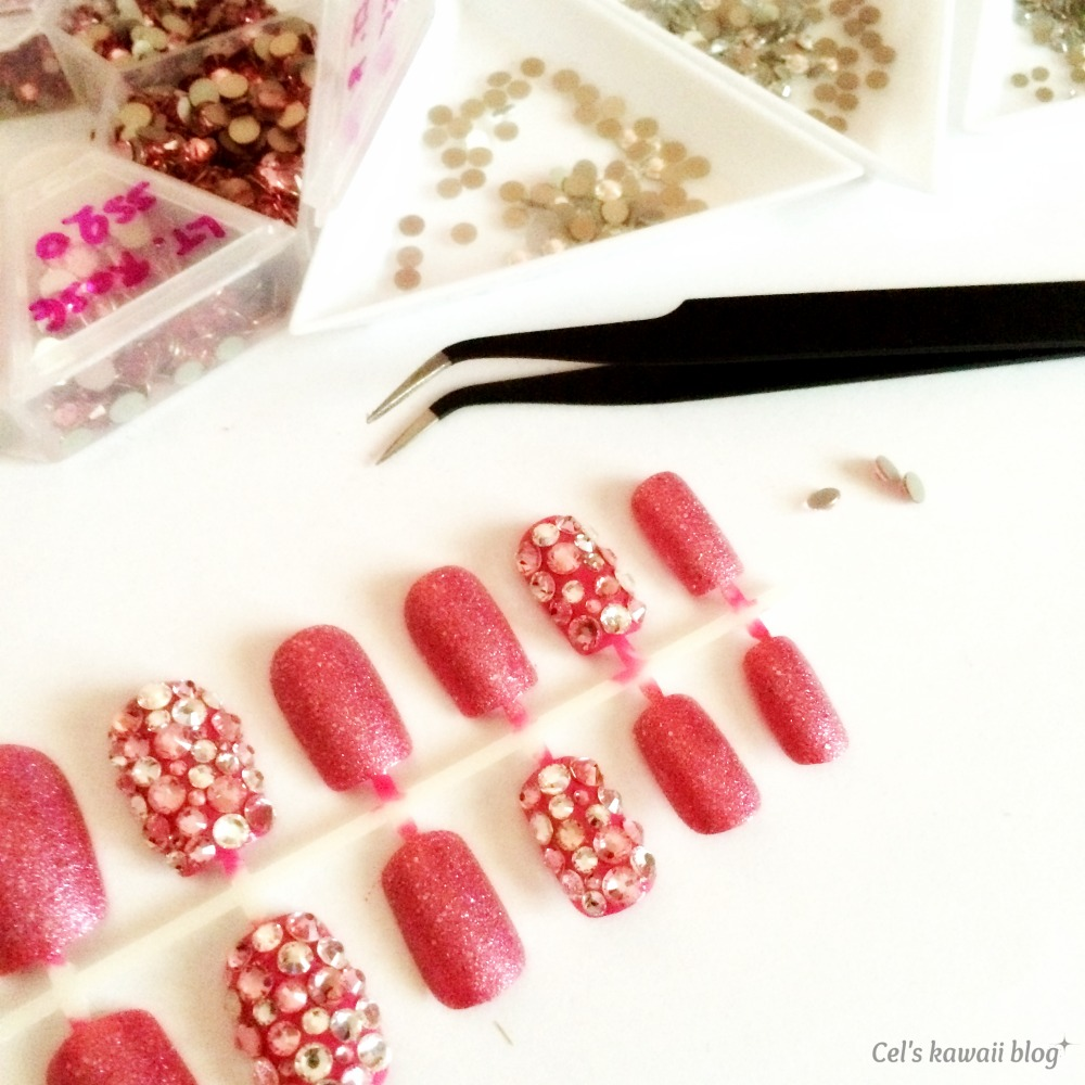 Deco nails tutorial, lets make sparkly crystal nails
