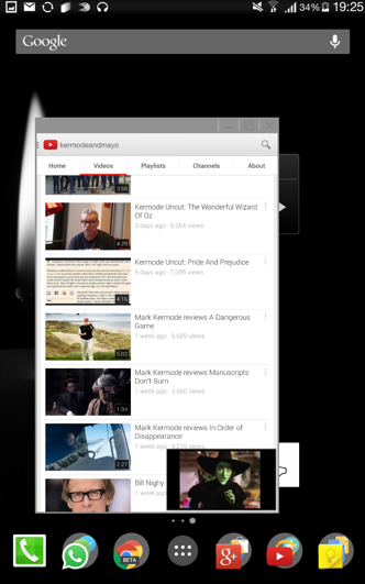 Youtube app inside a floating window...