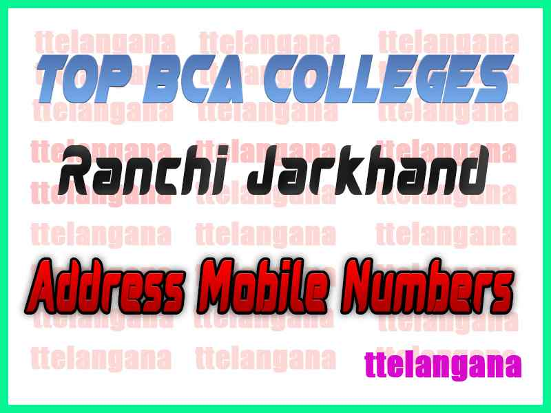 Top BCA Colleges in Ranchi Jarkhand