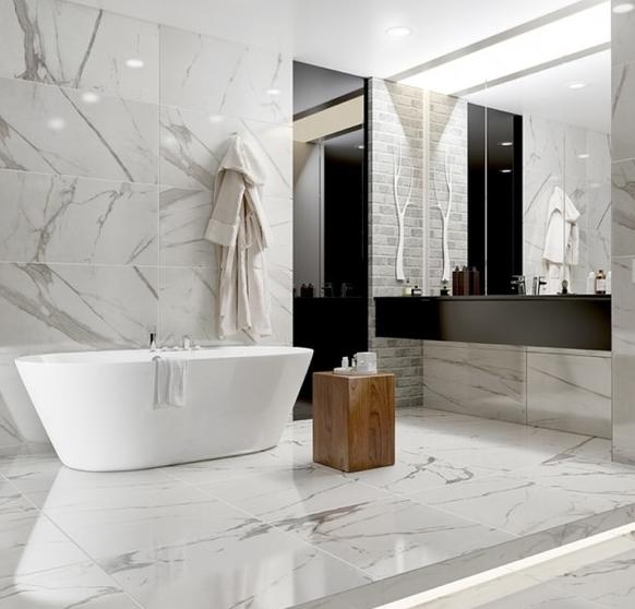 Motif Keramik dinding kamar mandi minimalis mewah modern paling baru