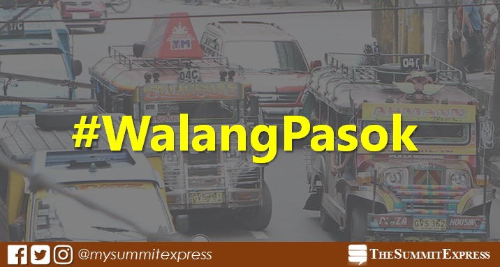 #WalangPasok: Class suspensions on Tuesday, October 17, 2017