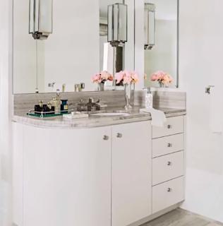 ديكور مرآة الحمام