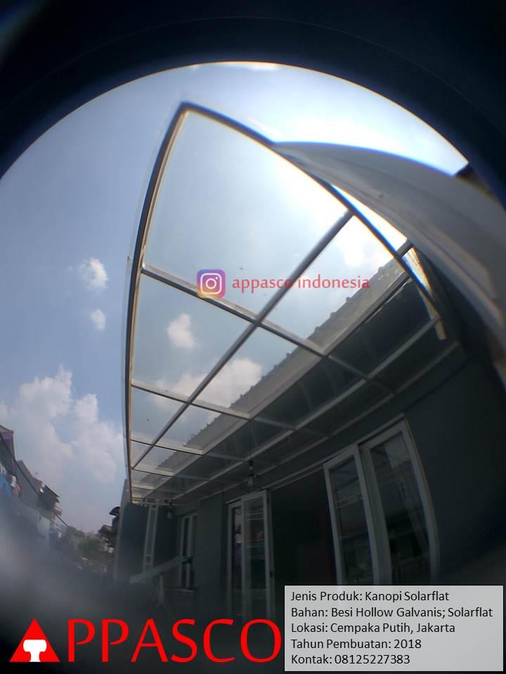 Kanopi Solarflat di Cempaka Putih