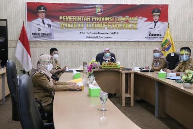 Virtual Meeting Scaling Up Nutrition Dihadiri Wakil Gubernur Provinsi Lampung