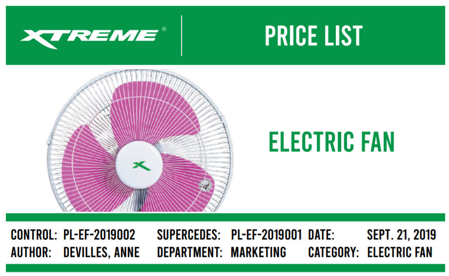 Xtreme Electric Fan