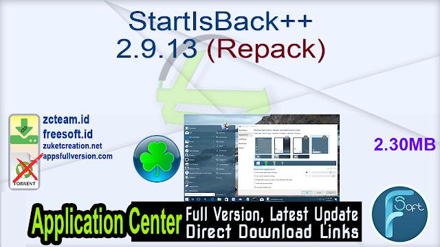 StartIsBack++ 2.9.13 (Repack)_ ZcTeam.id