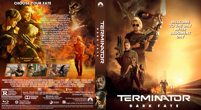 Terminator Dark Fate 14mm Bluray Cover